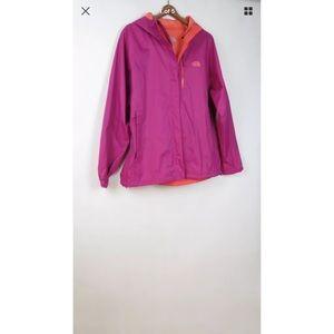 North Face pink orange Hyvent 2.5 jacket